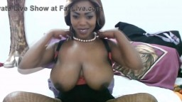 Hot ebony MILF Panter with massive milky boobies