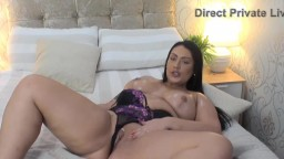 Busty raven girl Danielle Louise with a English accent