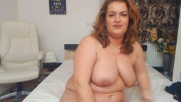 Loud moaning chunky mom Lorraine with big boobs gets cum