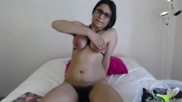 Kink brunette with tied boobs and full hairy bush does as u ask