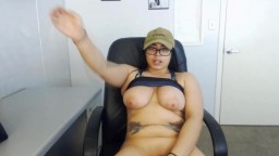 Curvy Kawai with huge boobs and sexy glasses gets cum