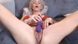 Busty blonde MILF Sloane Madison bangs creamy vagina