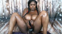 Sexy ebony babe Marie with massive juicy black tits