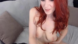Naughty ginger Kerri Gaines gives great live orgasm shows