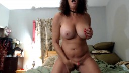 Talkative old housewife Nicki with massive boobs and glasses