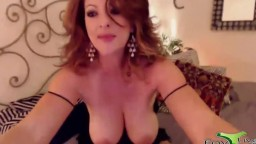 Magnificent red mother Lexi Lexxx with huge 38DD boobs