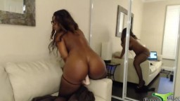 Addicted to cum busty black Nyla Storm with twerking booty