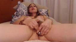 Milf with plug in bushy pussy receives a convulsing orgasm
