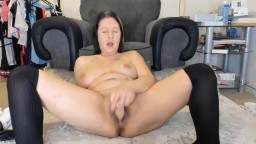 Talkative Missy shows how to jerk off throbbing dick - JOI