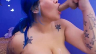 Asian plumper Anika to ride to the ball draining experience