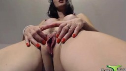 Horny squirter Ada prefers to use big sized dildos