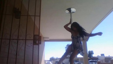 Curvaceous pole dancer into any kinds of erotic activities