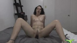 Tattooed latina babe Assondra pounds wet vagina