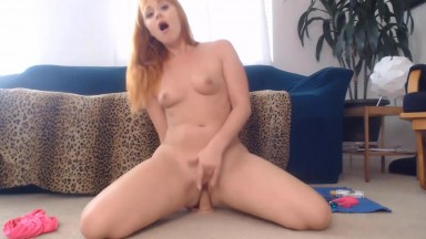 Frisky redhead mother Ms Rachel needs a hard and fast riding