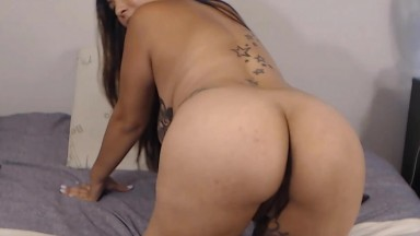 Colombian puta Emily Neon feels you through her rubber dick