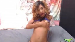 Petite black gal Essence with tiny tits pounds trimmed vagina
