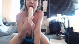 The One celebrity XXX Anita Blue with big toy and dirty talks